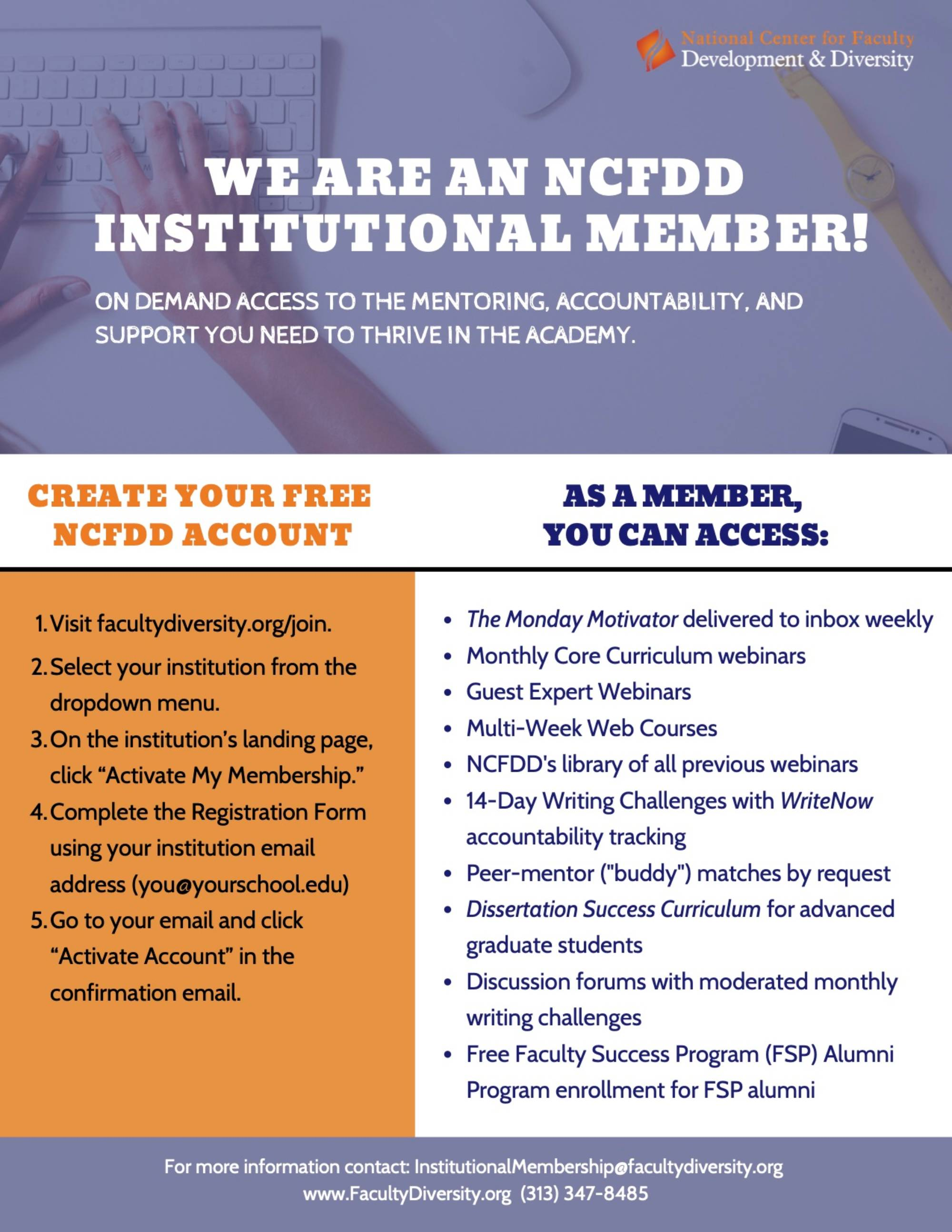 NCFDD Membership Flyer
